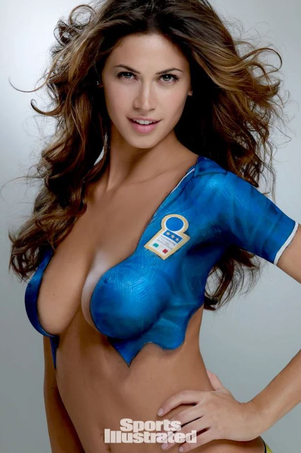 Melissa Satta for Sports Illustrated: Swimsuit body paint edition